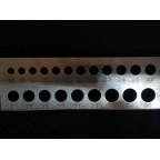 """Калибратор """"планка"""" (нержавеющая сталь) 15-35 мм"""