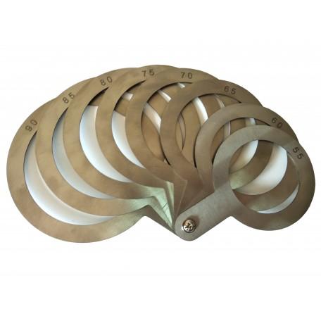 Калибратор веерный (нержавеющая сталь) 55-90 мм