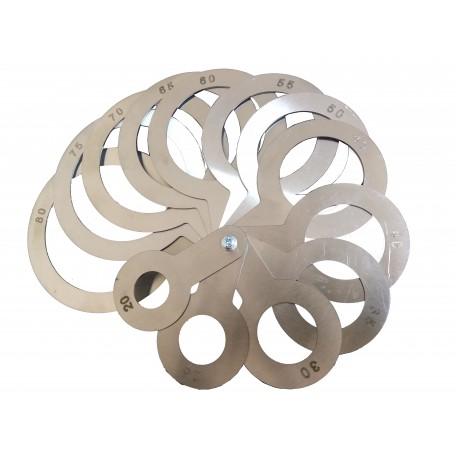 Калибратор веерный (нержавеющая сталь) 20-80 мм