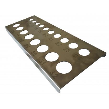 """Калибратор """"планка"""" (нержавеющая сталь) 15-32 мм"""