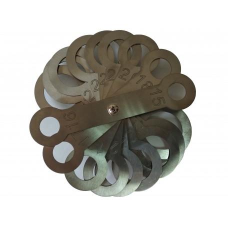Калибратор веерный (нержавеющая сталь) 15-32  мм