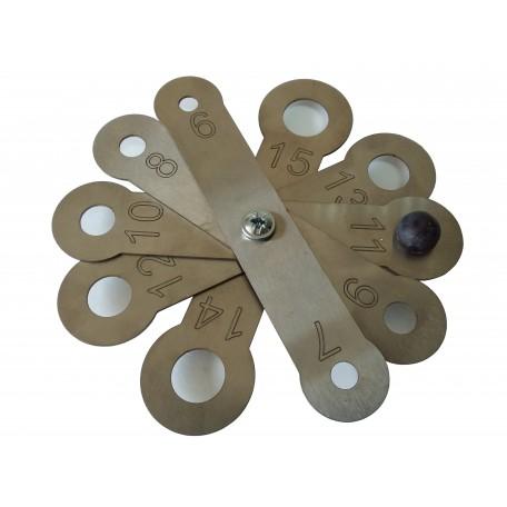 Калибратор веерный (нержавеющая сталь) 6-15 мм