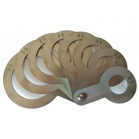 Калибратор веерный (нержавеющая сталь) 25-60 мм