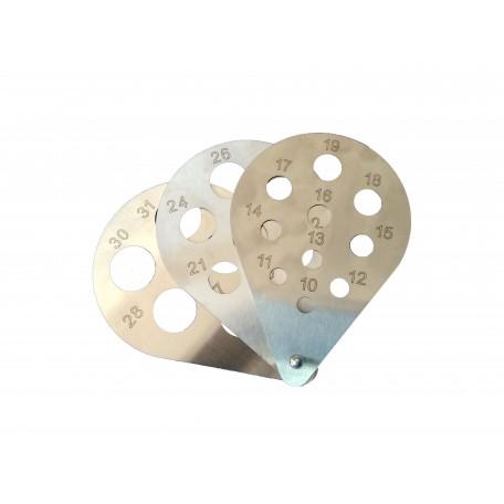 """Калибратор веерный """"капля"""" (нержавеющая сталь) 10-31 мм"""